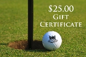 $25.00 Pro Shop Gift Certificates