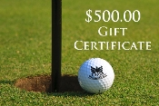 $500.00 Pro Shop Gift Certificates